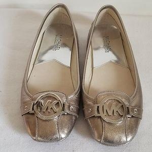 Michael Kors Silver Fulton Ballet Flat 7.5